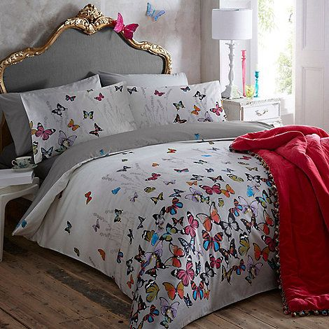 This light grey butterflies bedding set from butterfly by matthew williamsons designer home range