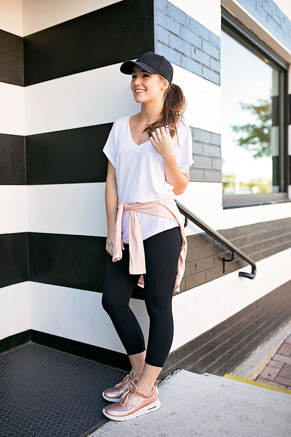 Metallic sneakers outfit