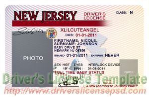New Jersey Drivers License Psd Nj Drivers License Psd Card