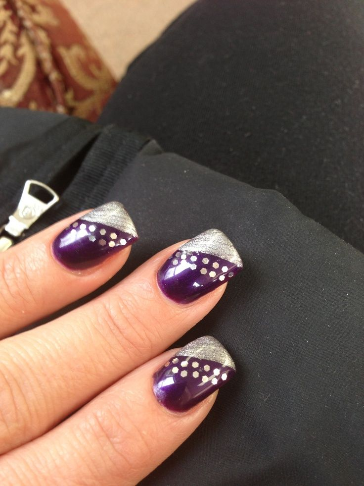 Purple and silver nails - Image Result For Silver Wedding Nails Nails!! Pinterest