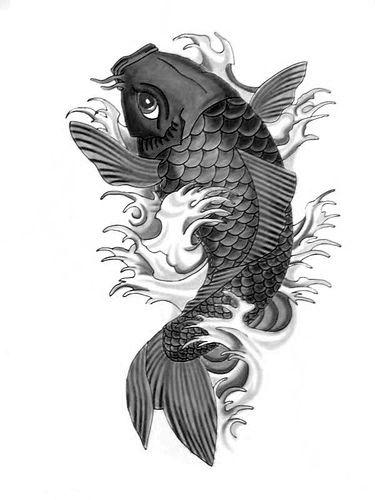 Pez Koi Japanese Koi Fish Tattoo Koi Tattoo Black Koi Fish