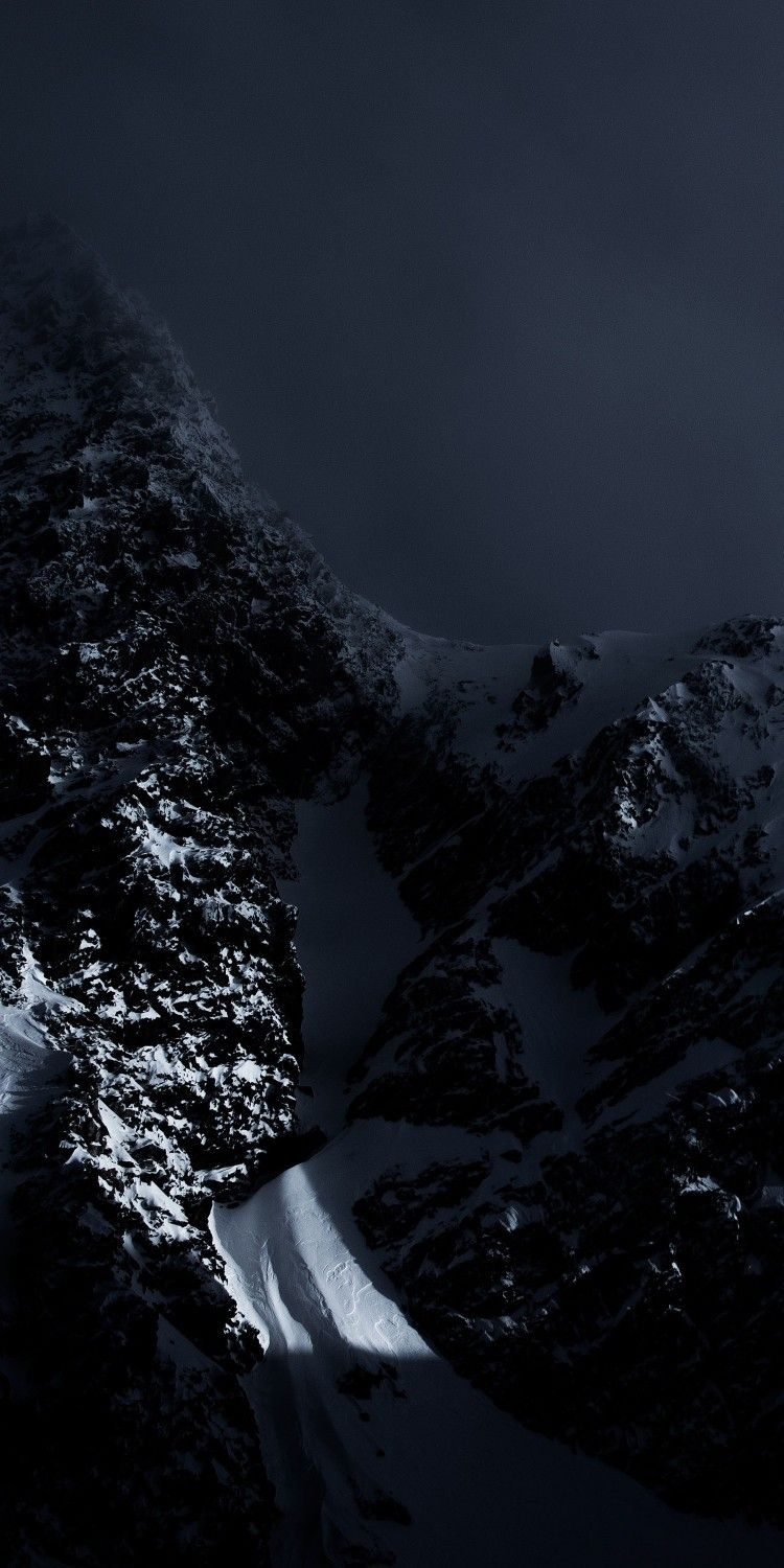 Dark Mountain Dark Phone Wallpapers Nature Wallpaper Landscape