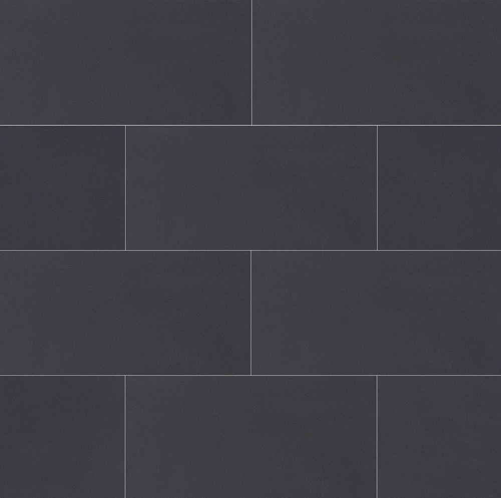 Plane 15 x 30 floor wall tile in true black in 2019 - Grey bathroom floor tiles texture ...