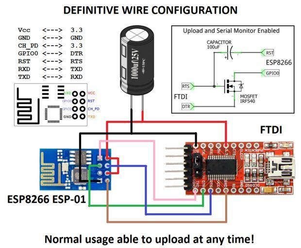 FTDI ESP8266 Definitive Wiring   Electrónica, Circuitos y ... on