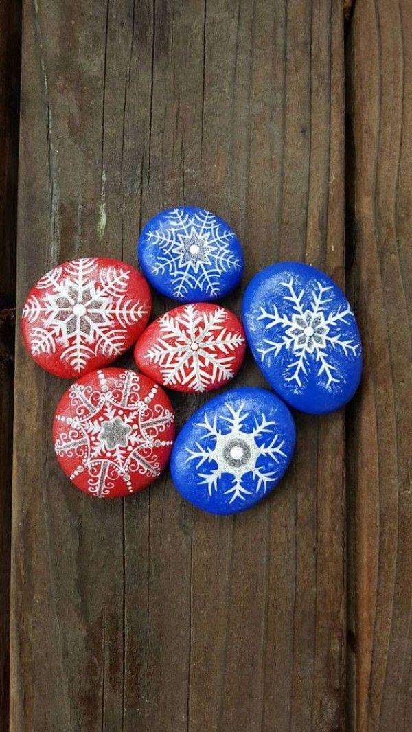 100 kreative Ideen für Steine bemalen in Weihnachtsstimmung! | Xmas