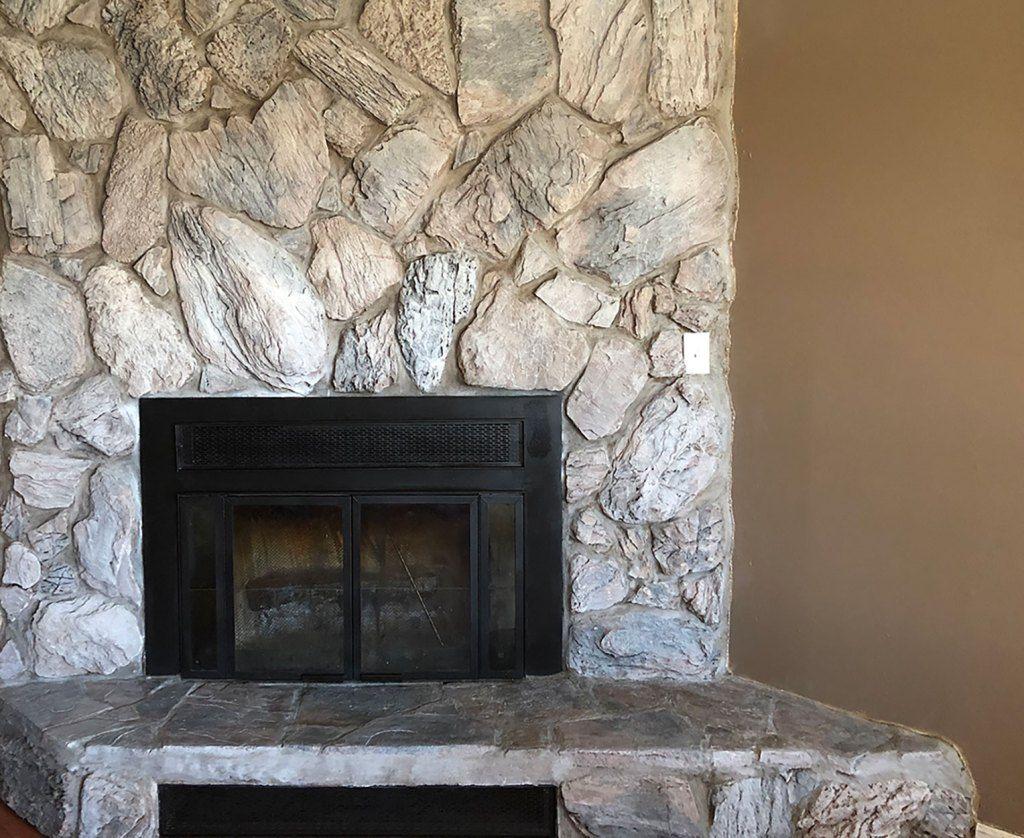How to Whitewash a Stone Fireplace Whitewash stone
