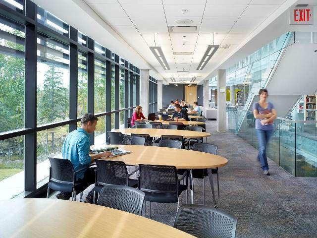 Library interior design award project title harris for Interior design agency toronto