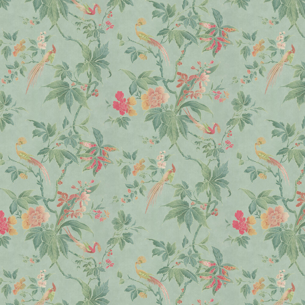 Paradise by Little Greene - Sage Green - Wallpaper ...