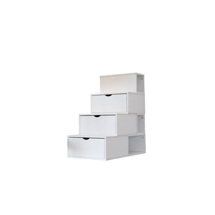 Escalier Cube De Rangement Hauteur 100 Cm Couleur Blanc Cube Rangement Rangement Hauteur Rangement