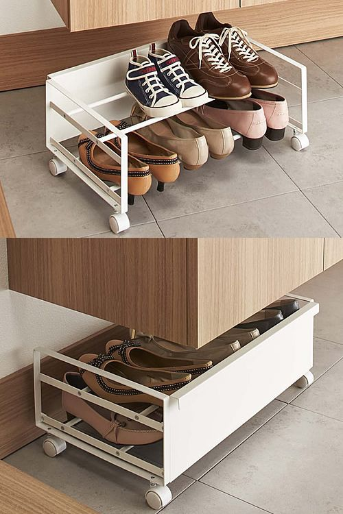 Under Bed Shoe Storage With Wheels Impressive Underbed Shoe Storage Rack  Hall Shoe Storage  Pinterest  Storage Inspiration Design