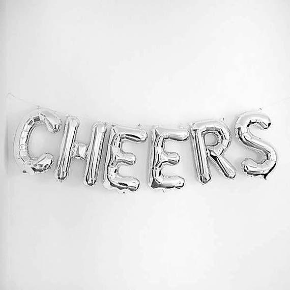 Cheers Letter Balloons 16 Silver Letter Balloons Graduation - celebration letter