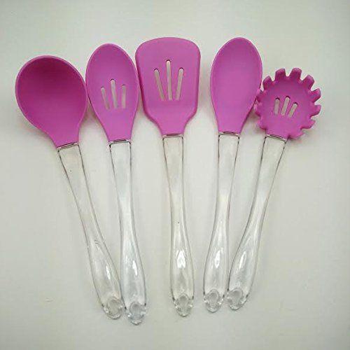 Five Piece Pink Silicone Kitchen Utensil Set Pink Kitchen Http://www.amazon