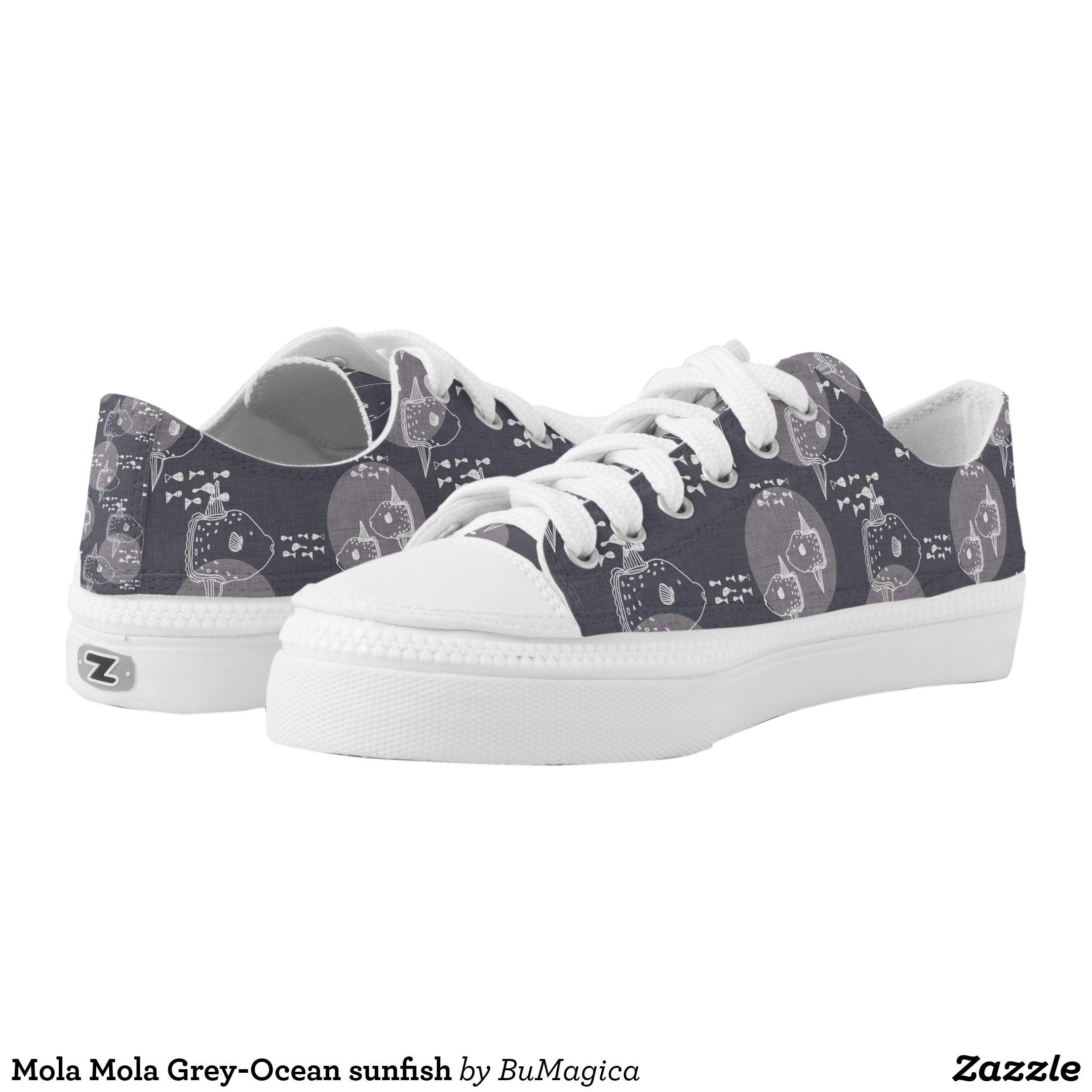 5f3dd6119fce Mola Mola Grey-Ocean sunfish Low-Top Sneakers - Canvas-Top Rubber-
