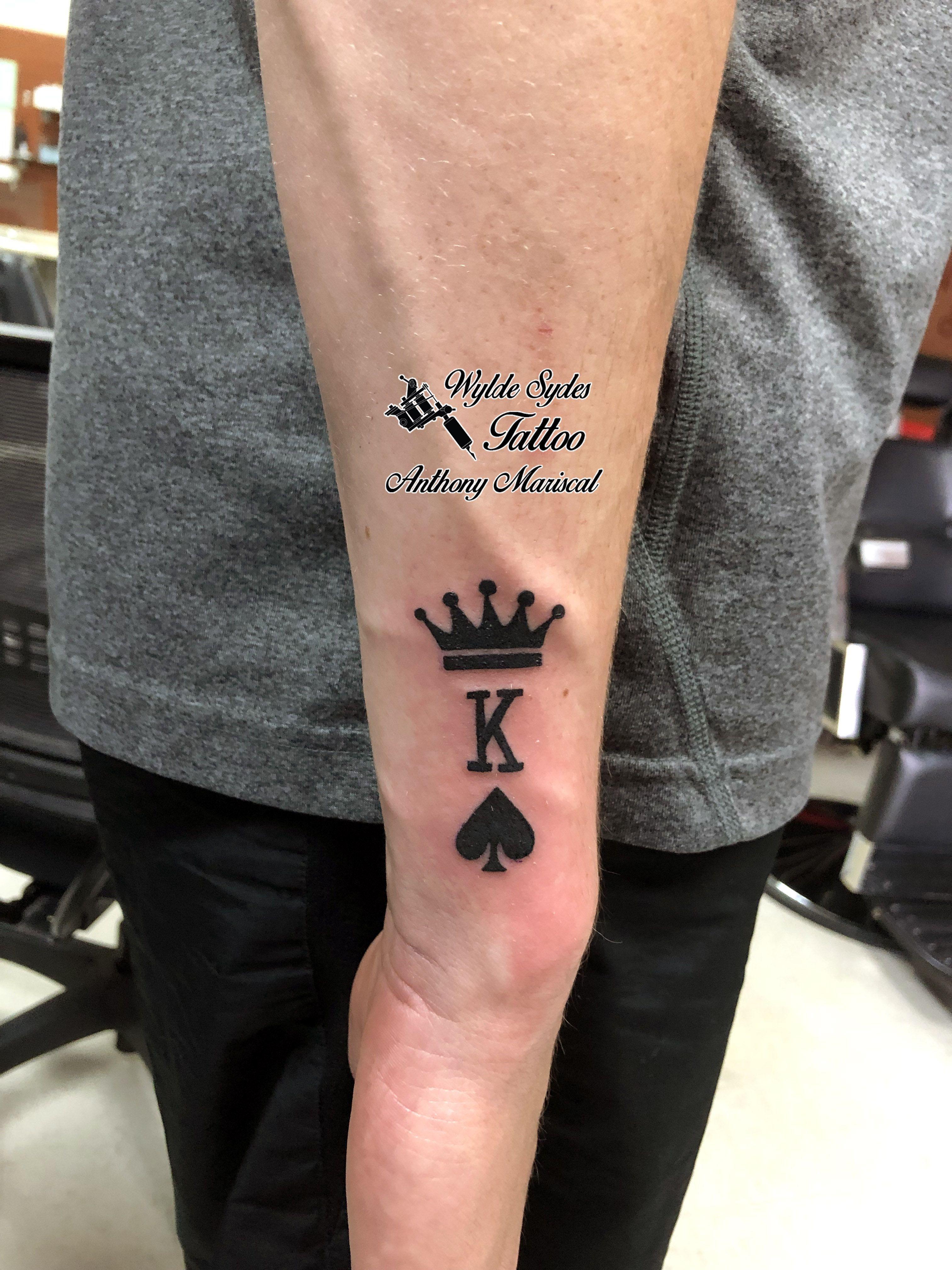 King of spades by anthony tattoo tattoos kingtattoo