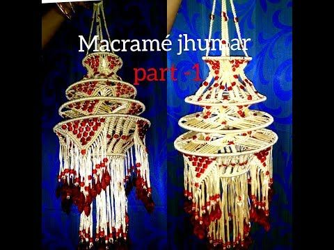 30 How To Make Designer Jhumar Macrame At Home