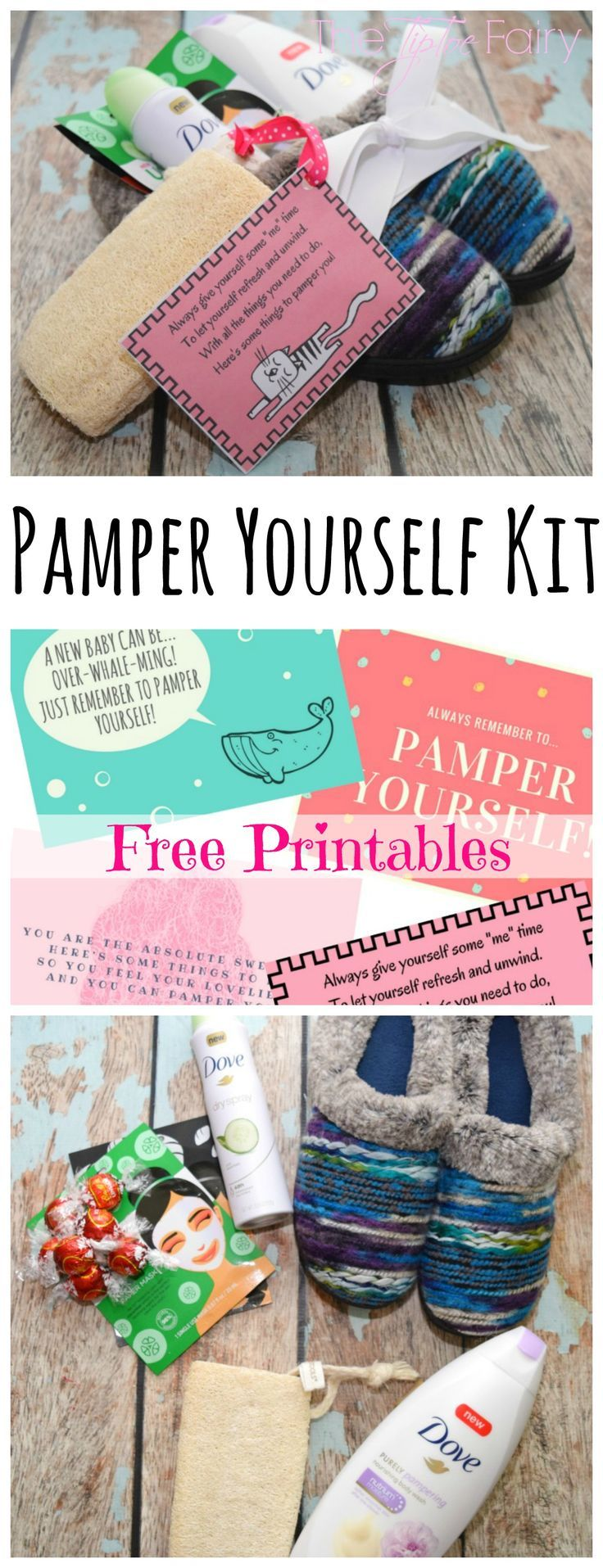 New mom pampering kit with treat filled slippers printable tags make a new mom a pampering slippers kit with these adorable free printable tags shell love it ad pamperwithpeony solutioingenieria Gallery