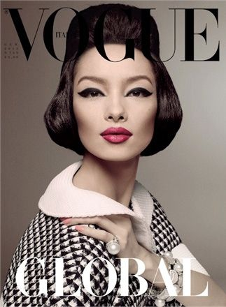 Vogue Italia January 2013 Fei Fei Sun by Steven Meisel
