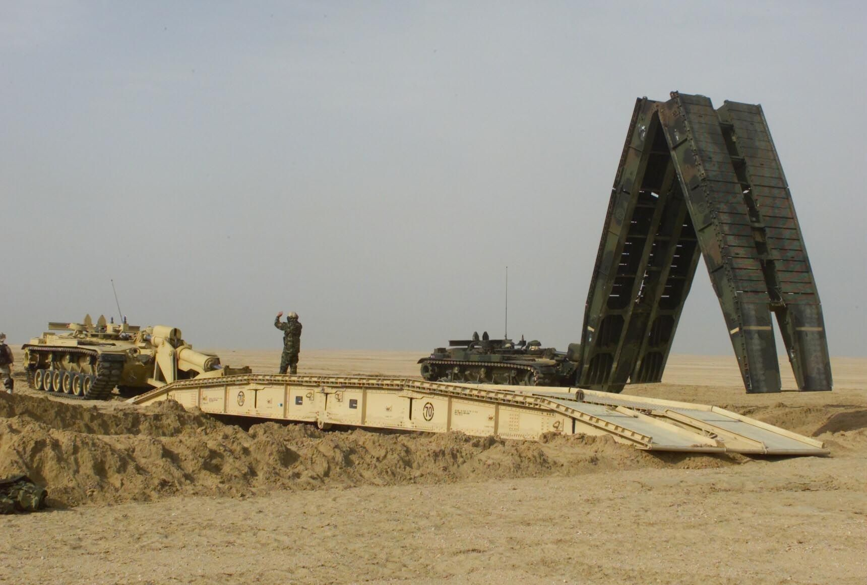 M60 AVLB (Armored Vehicle Launched Bridge) - One of the