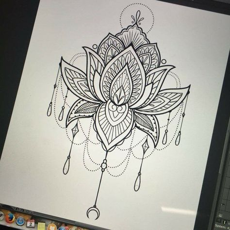57 Trendy Flowers Tattoo Designs Sketches Lotus Mandala