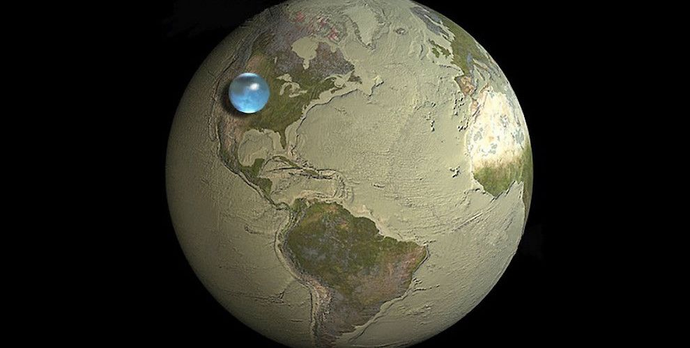 Featured Image for All of the water on Earth as a planet