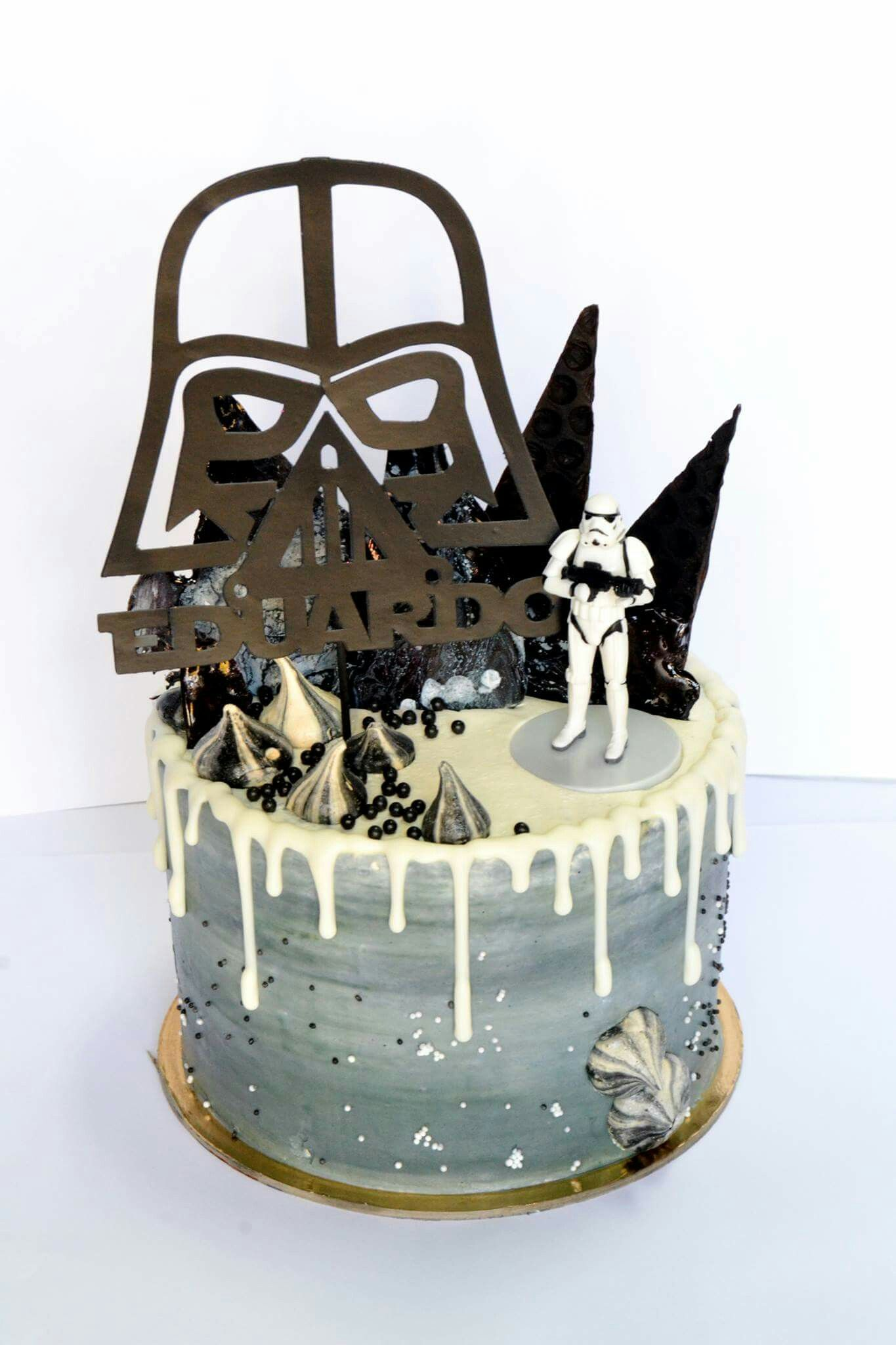 Fabulous Star Wars Drip Cake Birthday Cakes For Men Star Wars Birthday Birthday Cards Printable Giouspongecafe Filternl