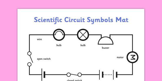 Scientific Circuit Symbols Mat