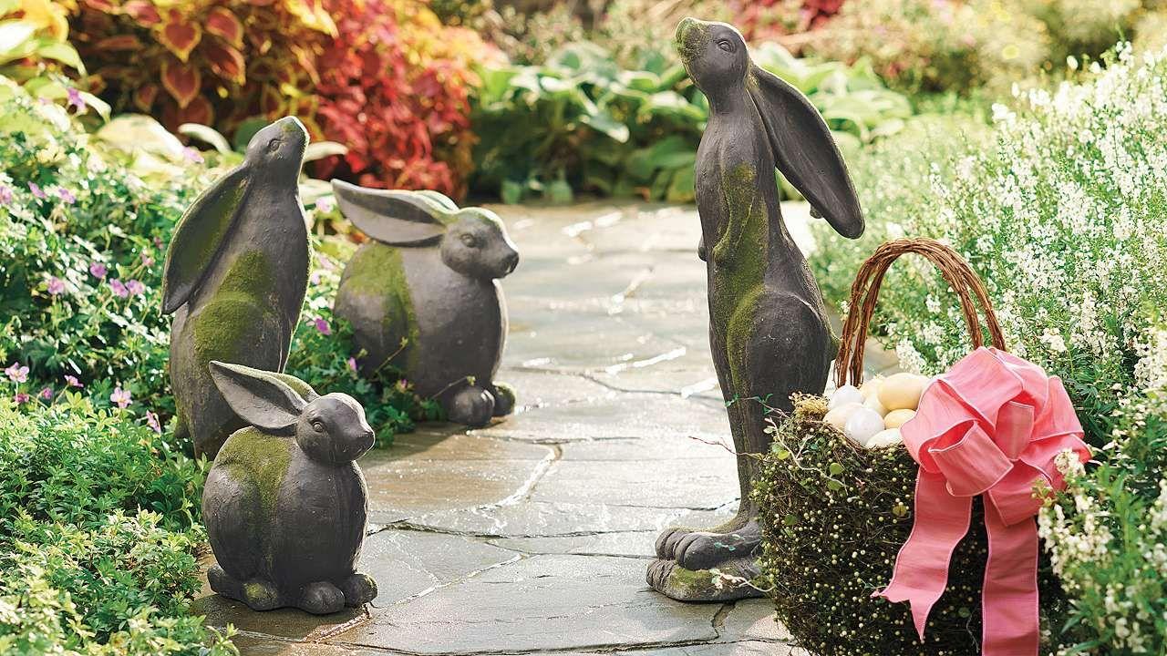 Sitting Garden Bunnies
