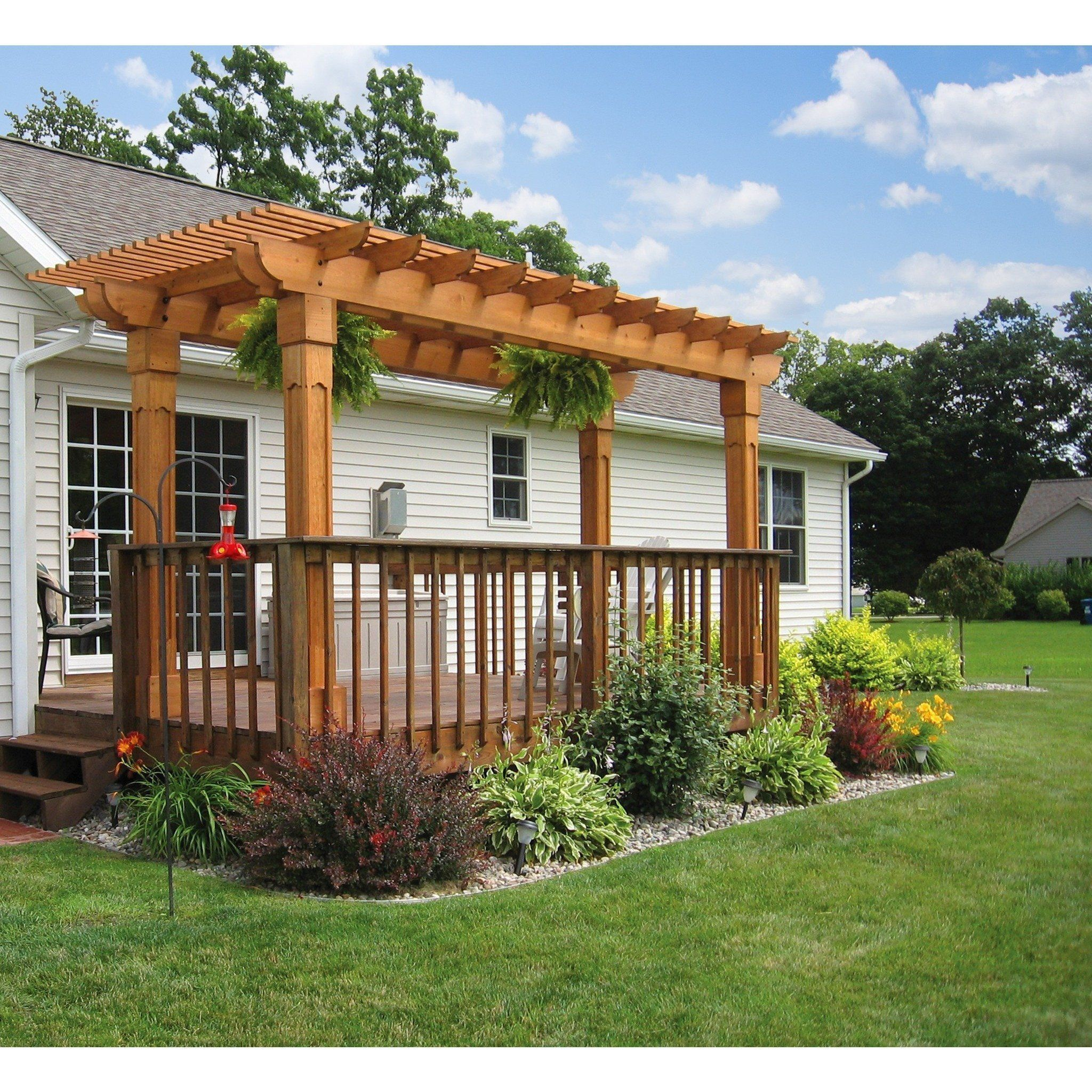 Berlin Gardens Outback Wood Pergola Collection 10' x 16