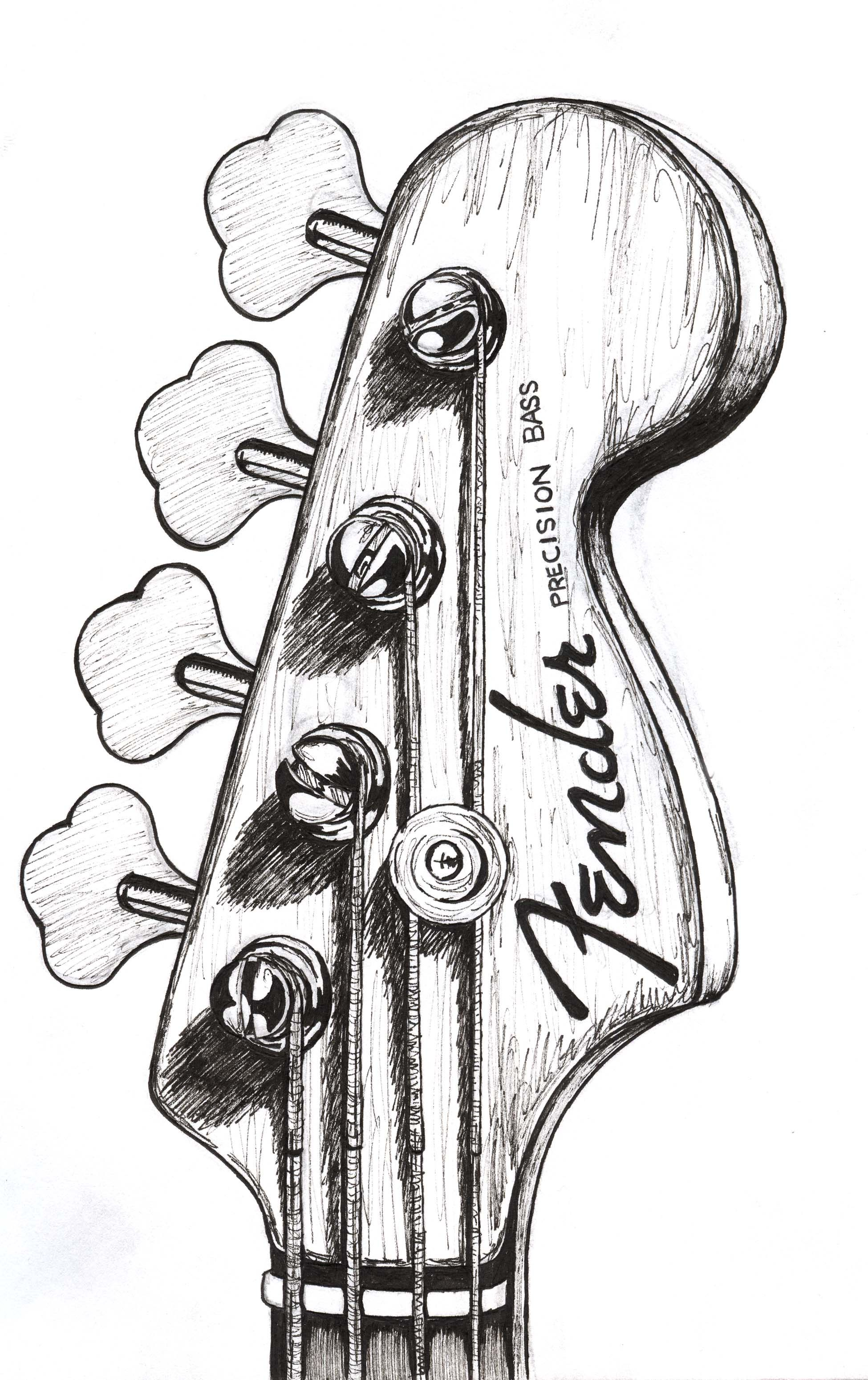 Bass guitar drawing google zoeken more