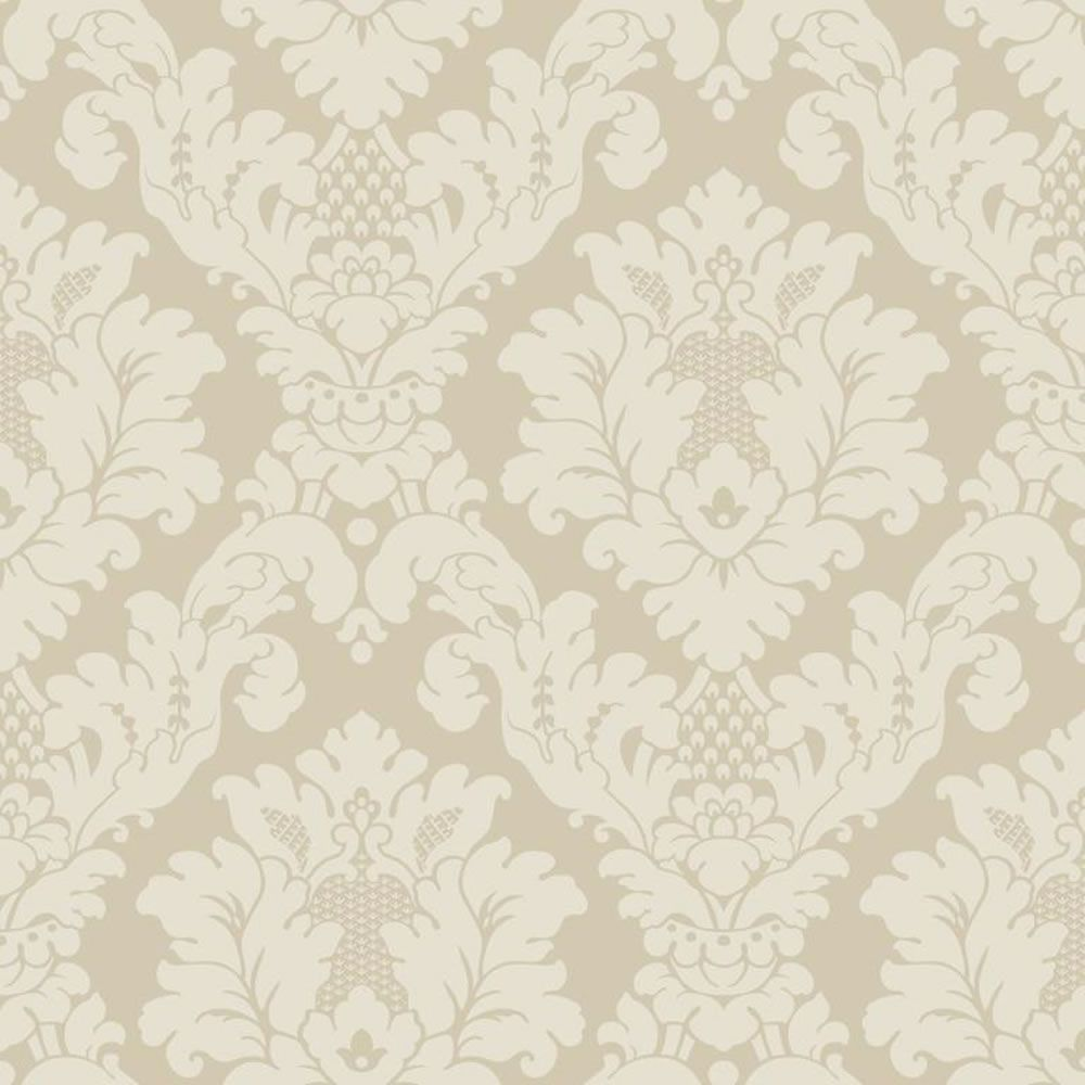 arthouse opera da vinci damask textured wallpaper cream