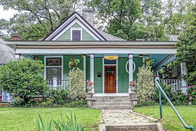 Image Result For 1925 Cottage Bungalow Green Charming Exterior Houses