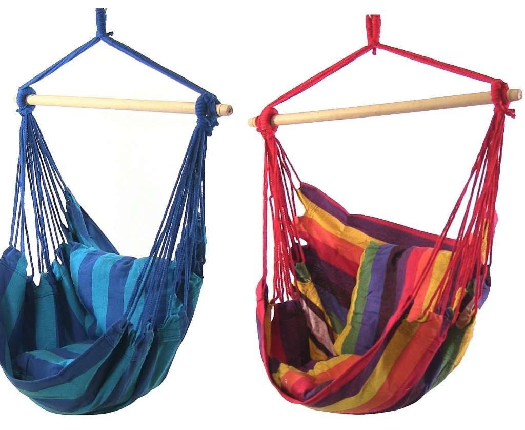 Sunnydaze decor hanging hammock swing products pinterest