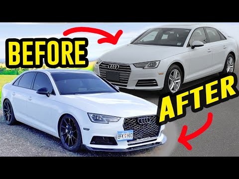 Building An Audi A4 B9 In 10 Minutes Like Throtl Youtube In 2020 Audi A4 Audi 2017 Audi A4