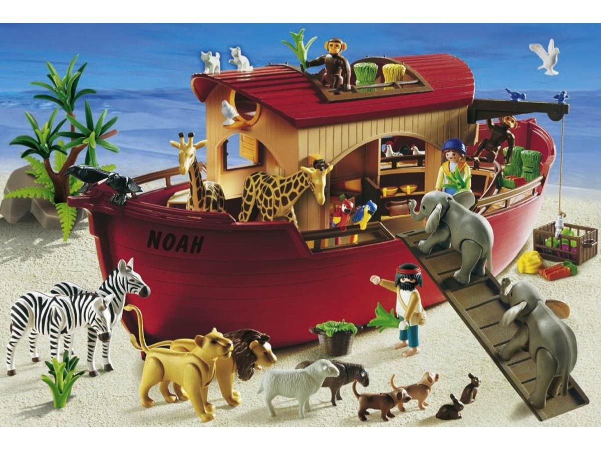 puzzle 60 pi ces playmobil arche de no figurine avec accessoires schmidt r f 55396. Black Bedroom Furniture Sets. Home Design Ideas