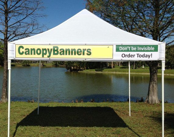 Canopy Banner Kit 9 X 1 Hang A Banner Fast And Etsy Vinyl Banners Canopy Banner Sizes