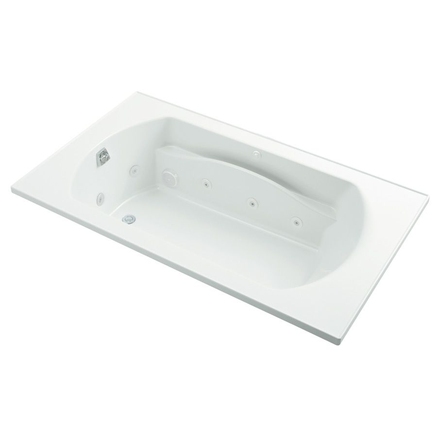 Sterling Lawson 2-person White Vikrell Rectangular Drop-In Whirlpool ...