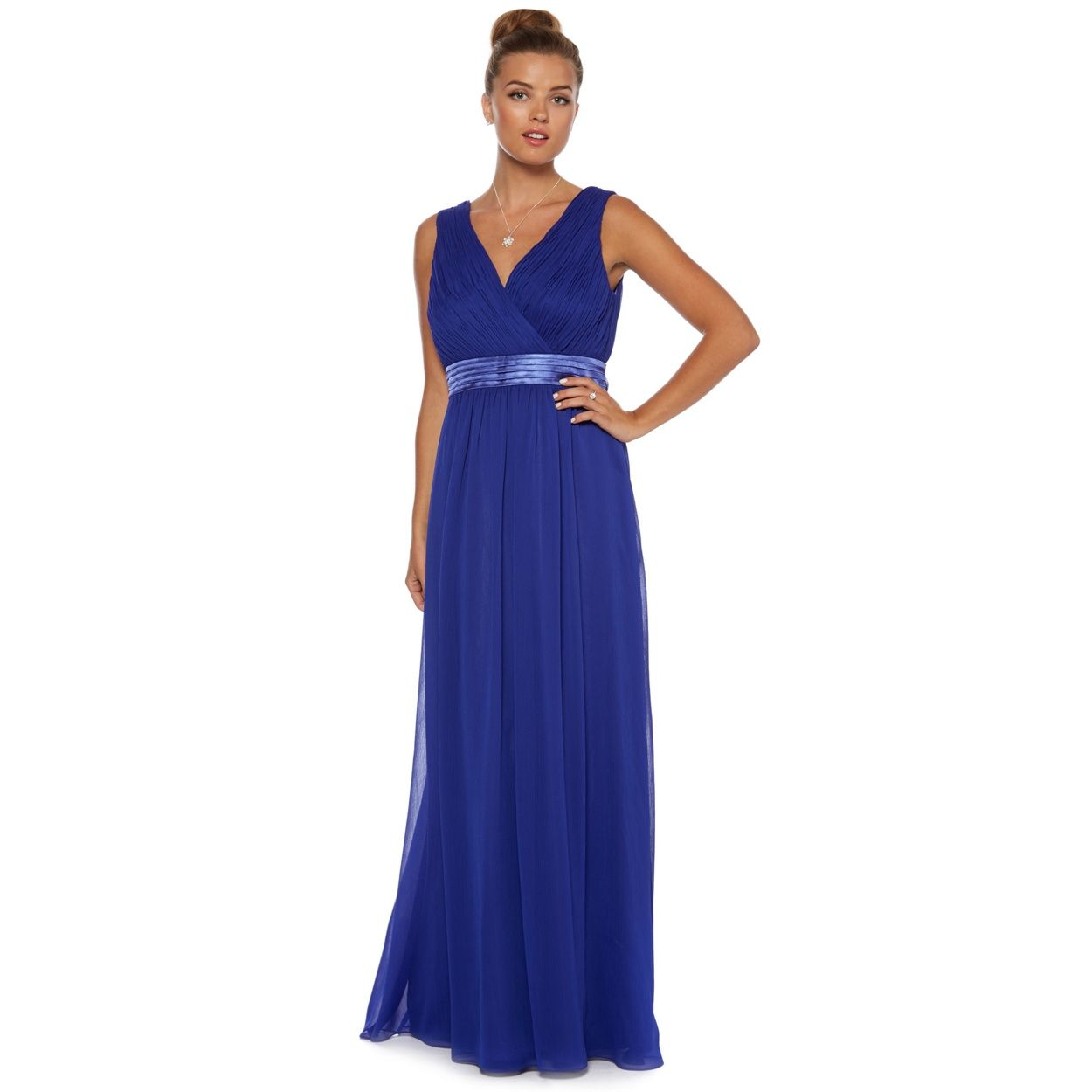 Debut cobalt blue grecian pleated maxi dress at debenhams dbut cobalt blue grecian pleated maxi dress from debenhams 10 beautiful blue gowns for your bridesmaids ombrellifo Image collections