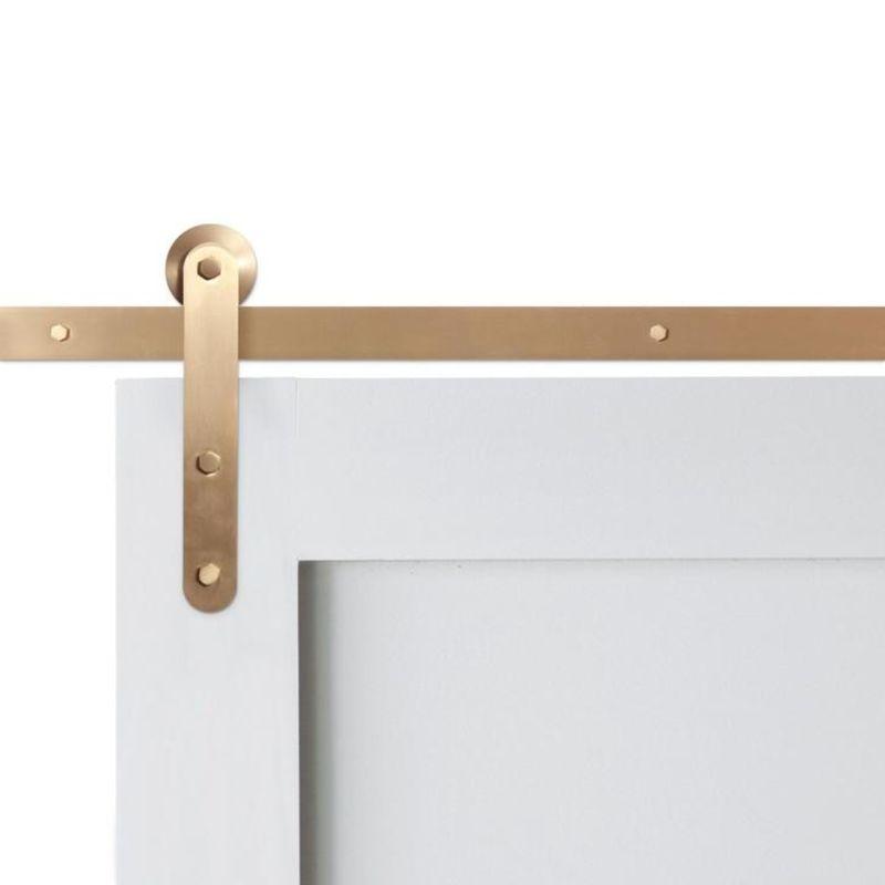 Brassy Beau Top Mount Barn Door Hardware In 2020 Door Hardware Barn Door Hardware Interior Barn Doors