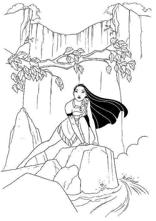 Pocahontas Indian Princess Free Printable Coloring Pages Coloring