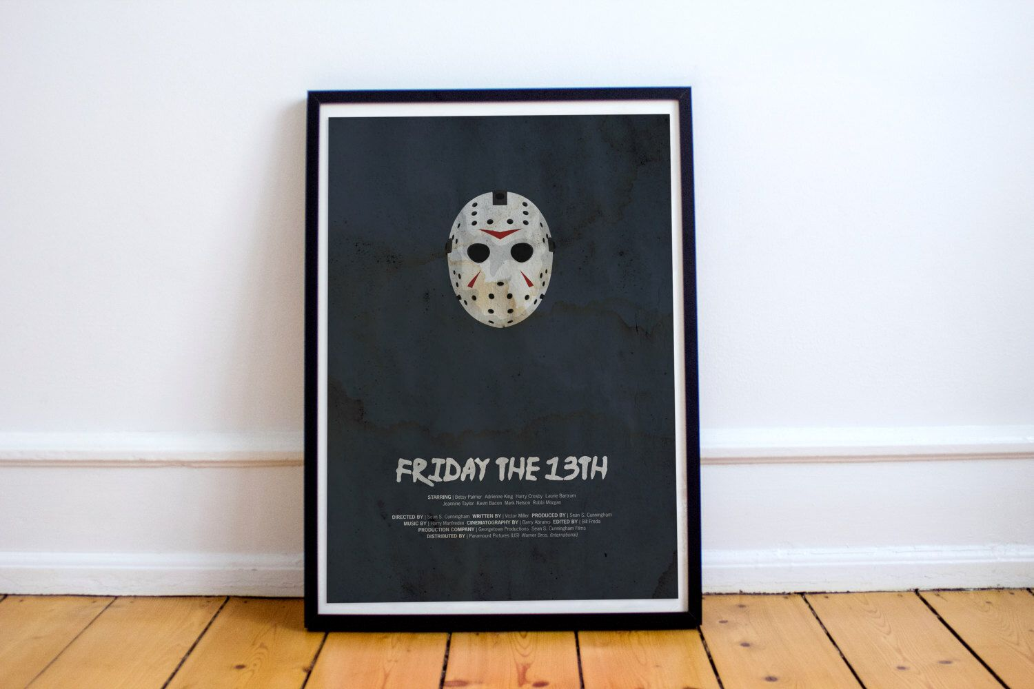 Camp Has Been Terminated // Friday the 13th - Alternate Horror Movie Poster // Water-stain-textured vintage print with killer hockey mask by TheGeekerie on Etsy https://www.etsy.com/listing/470361126/camp-has-been-terminated-friday-the-13th