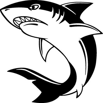 Sticker requin en col re - Modele dessin requin ...
