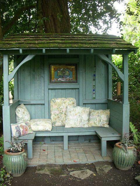 Garden Bench And Roof Garden Backyard Seating Garden