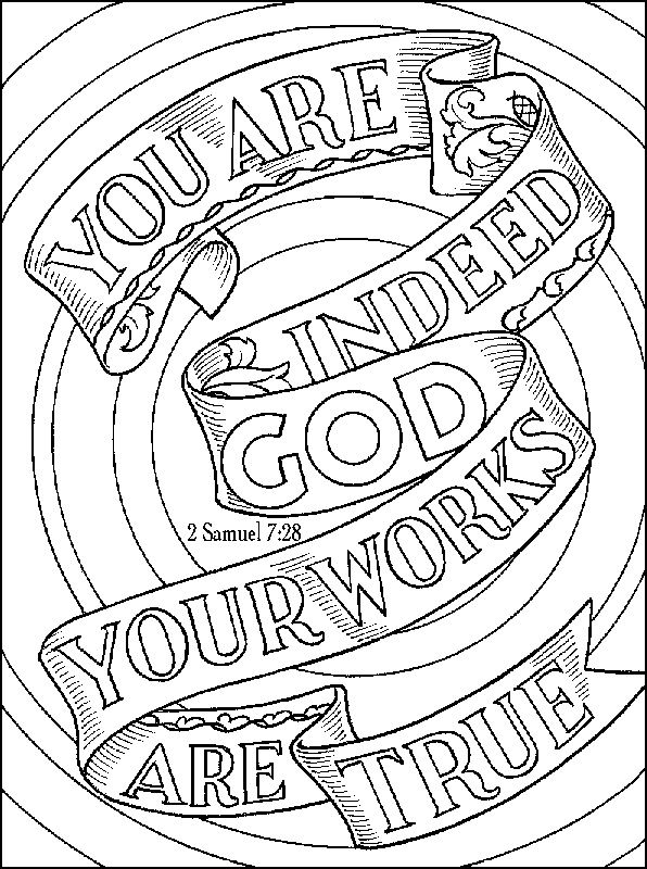 2 Samuel 7 28 Bible Coloring Pages Christian Coloring Bible