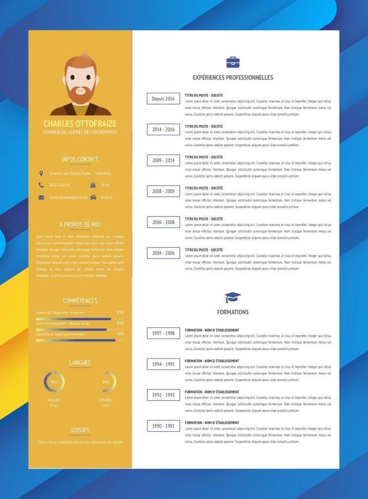 Modele De Cv En Ligne Design Et Original Exemple Curriculum Vitae