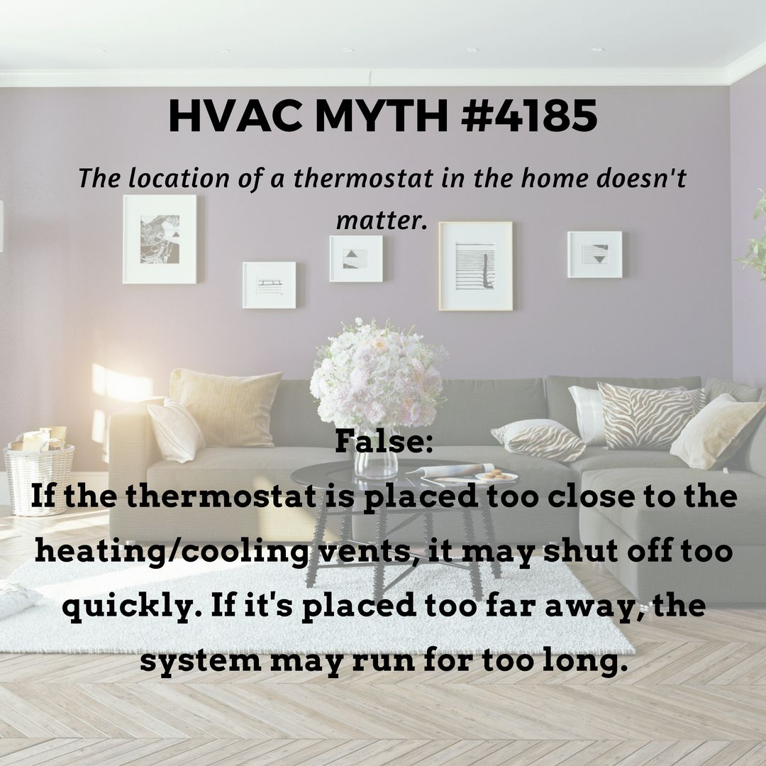 The Location Of The Thermostat In Your Home Does Matter To The
