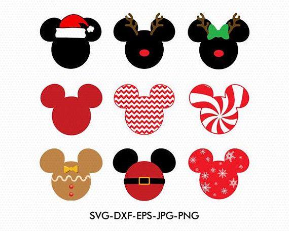 Christmas Minnie Mouse Svg.Christmas Mickey Minnie Ears Monogram Frame Svg Minnie Bow