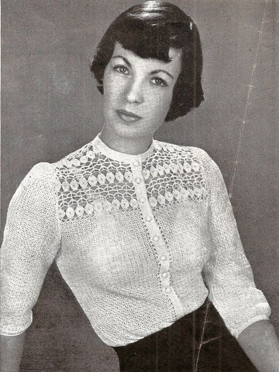 Paris Blouse Vintage Crochet Pattern 263