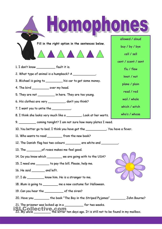 Homophones 1 Homophones Worksheets Homophones English Grammar Worksheets [ 1440 x 1018 Pixel ]