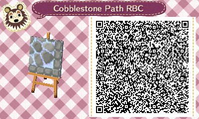 Cobblestone Path - December/Winter - Animal crossing things and stuff.