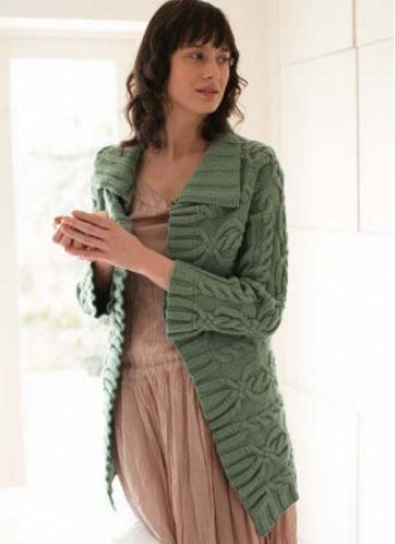 Long Cable Cardigan Free Knitting Pattern Knit Patterns Cable And